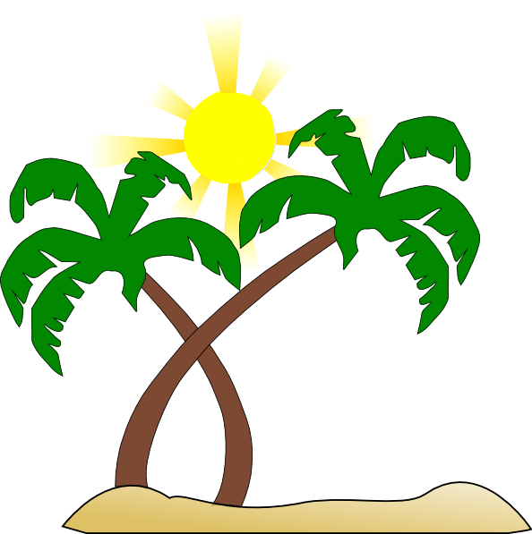 Playa vector background. Collection of free beaches