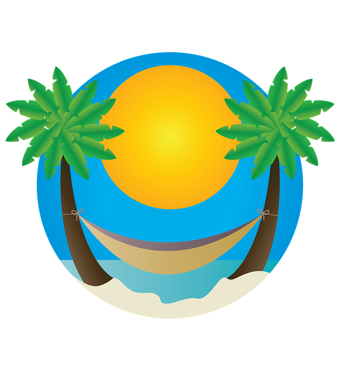 Playa vector background. Vacation beach transparent image