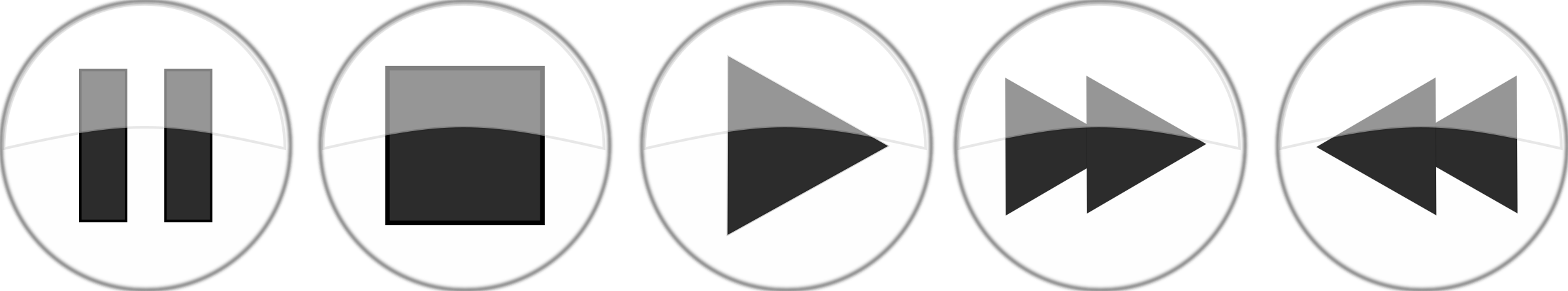 Play pause stop png. Glossy media player buttons
