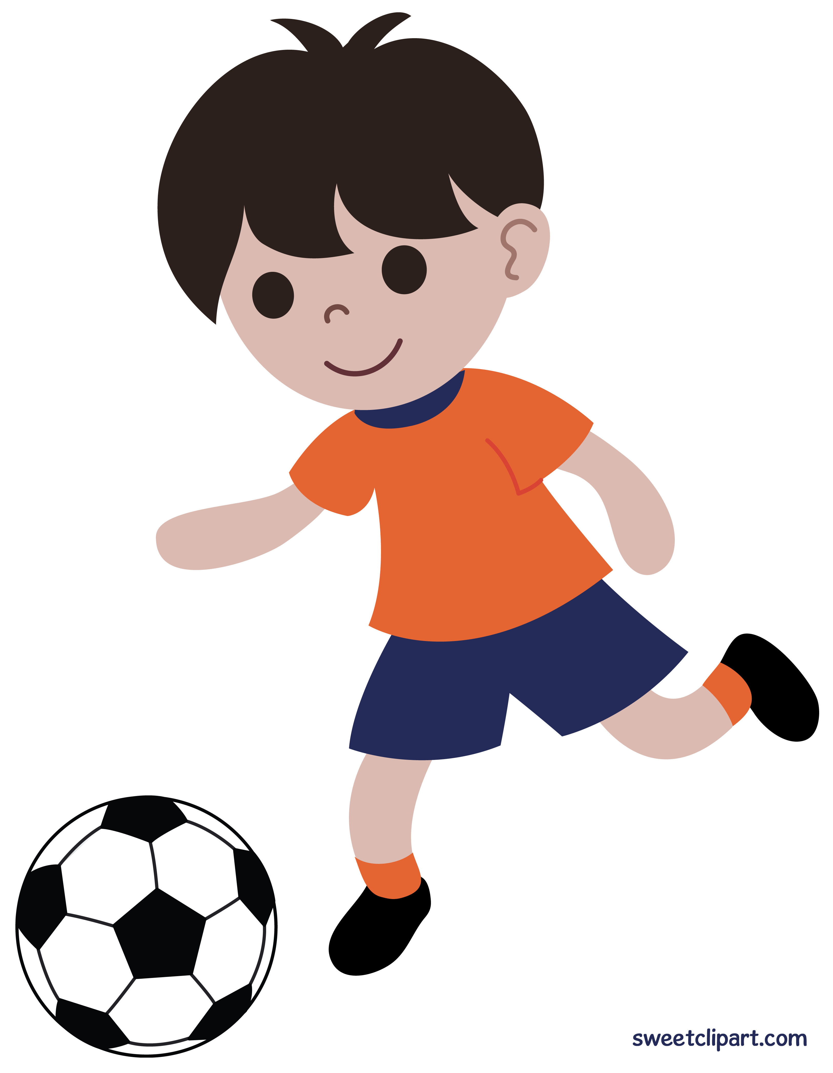 Player clipart. Girl playing soccer at