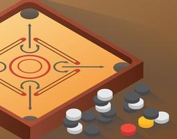 Player clipart carrom. Board vector illustration download