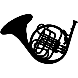 Player clipart french horn player. Free svg silhouette crafts