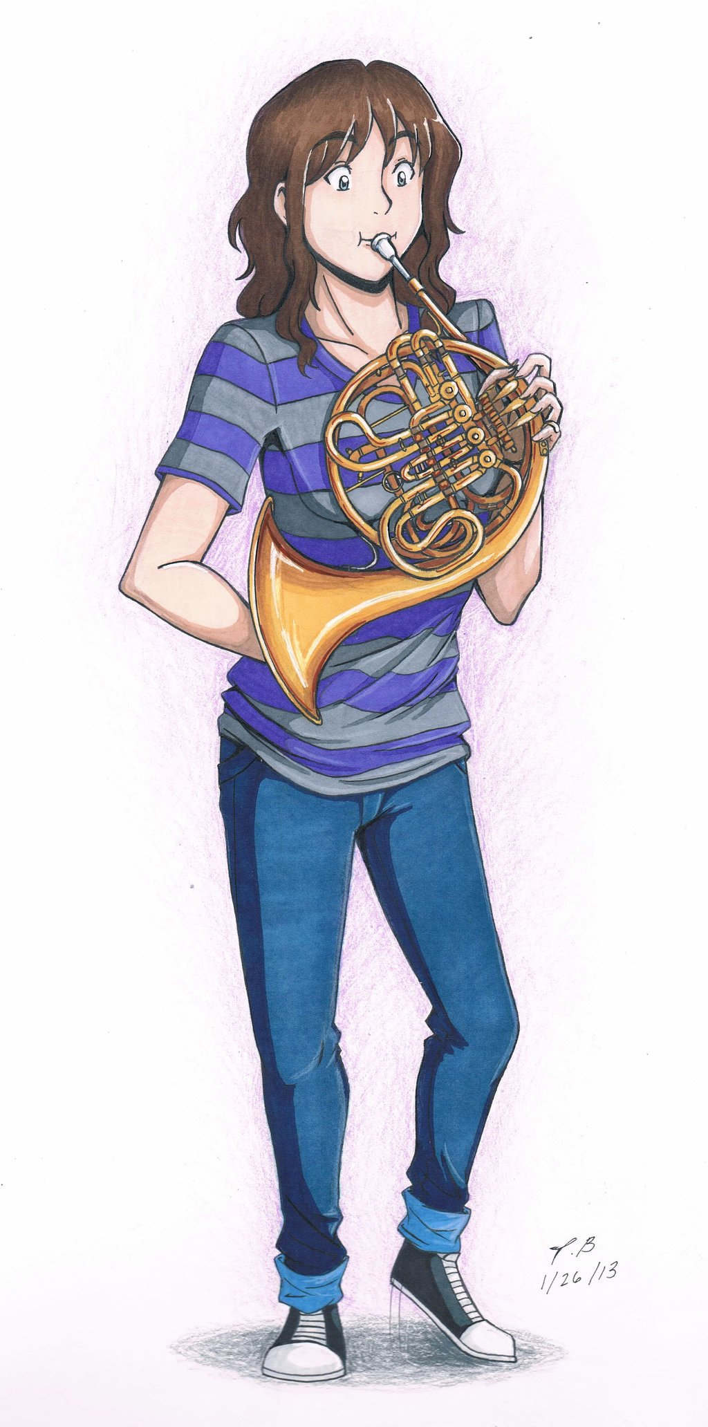 Drawing at getdrawings com. Player clipart french horn player jpg library stock