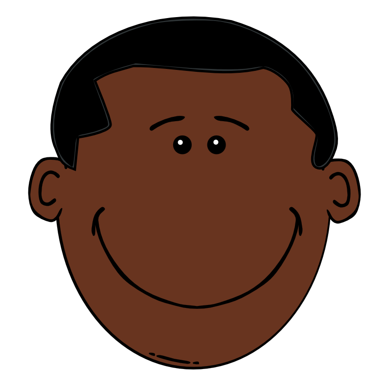 Afro clipart cartoon hair. Free black boy download