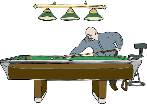 Player clipart swimming. Pool table with i