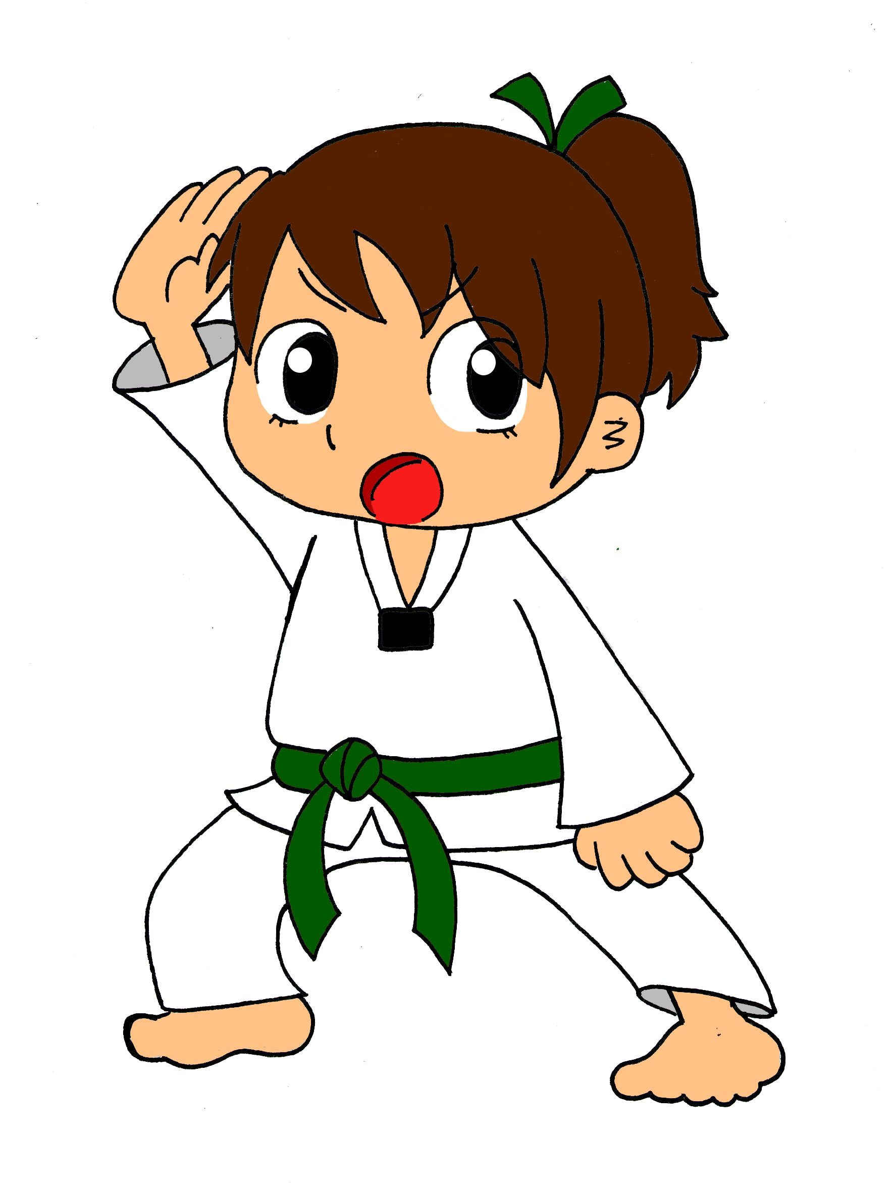 Player clipart taekwondo. It s marlee only