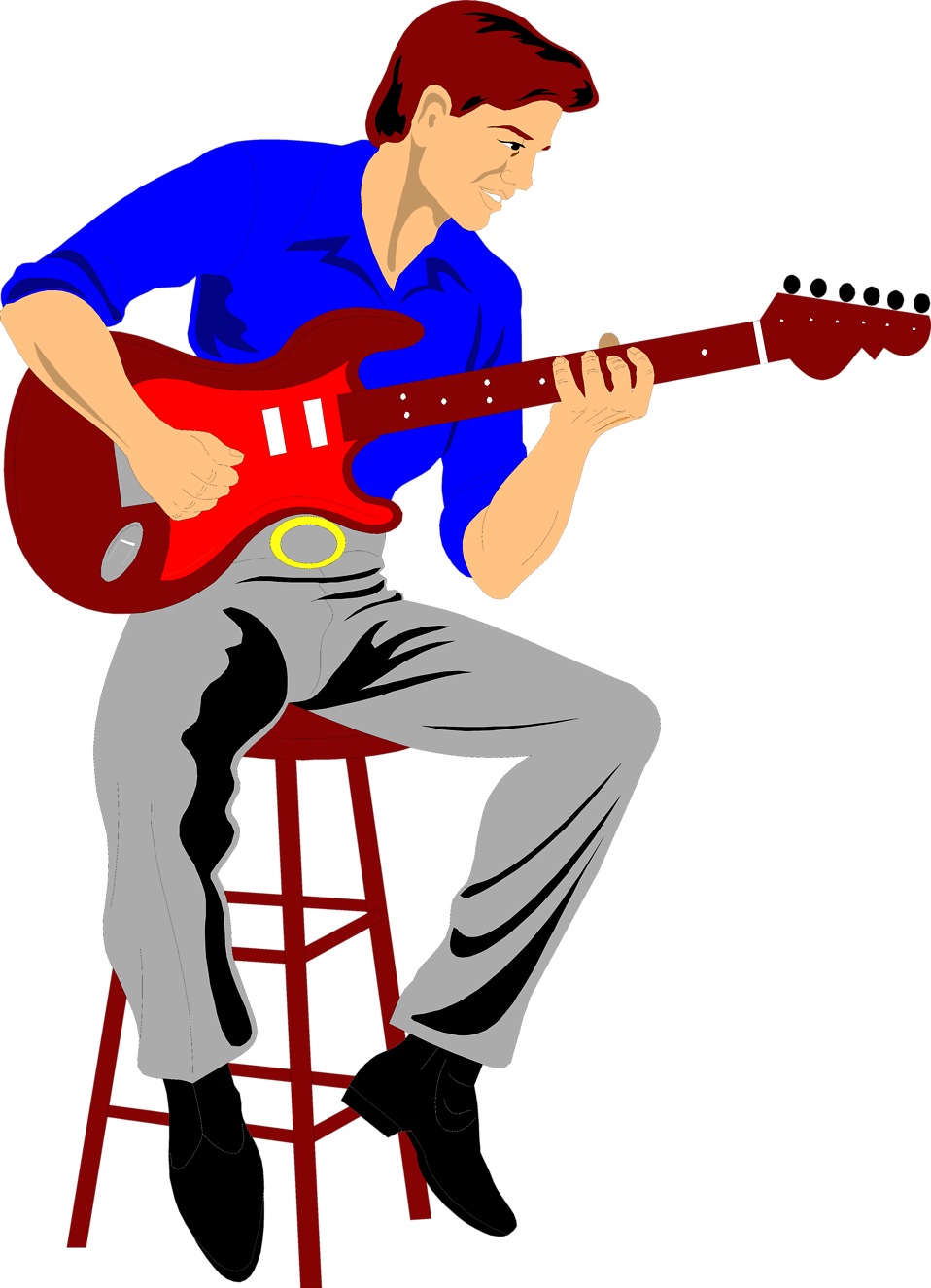 Players clipart electric guitar player. Guitarist free stock photo