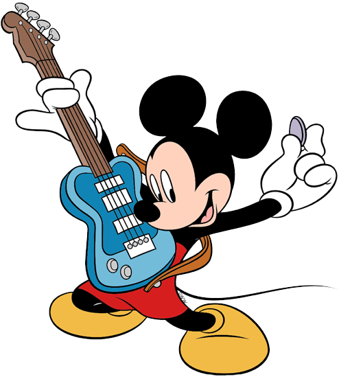 Players clipart electric guitar player. Mickey mouse clip art