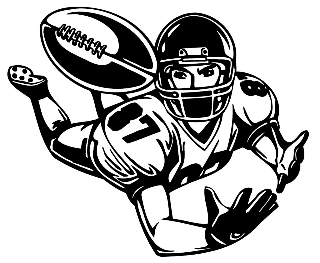 Players clipart line art football. Player drawing at getdrawings