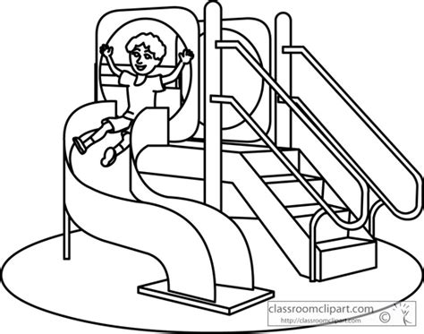 Playground clipart outline. Coloring pages democraciaejustica school