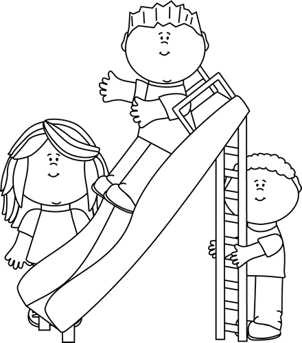 Playground clipart outline. Kids clip art images