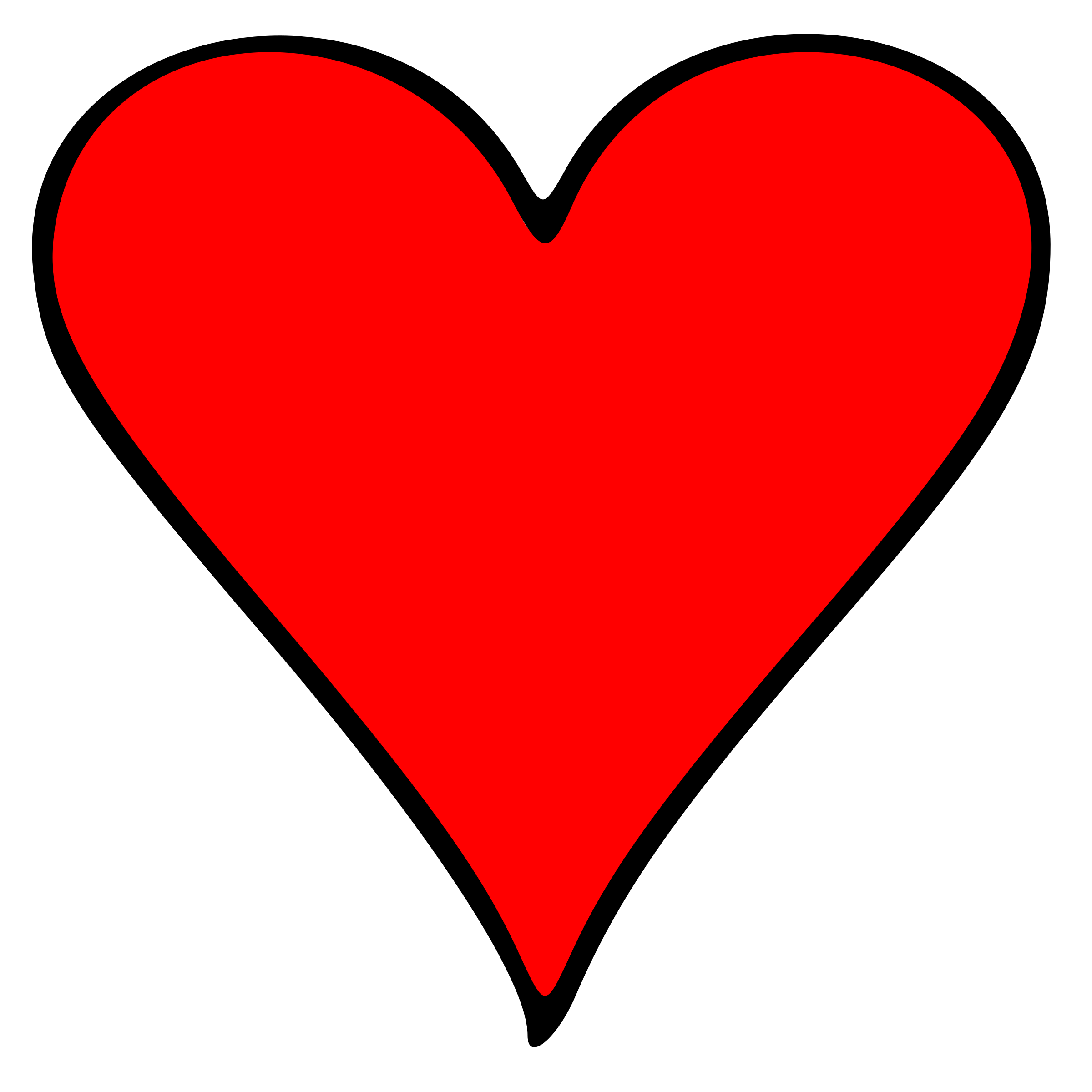 Playing card heart png. Outlined symbol icons free