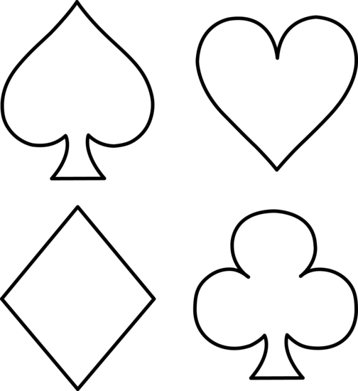 Playing card suits png. Cart outline work stuff