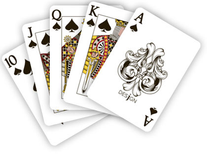 Playing cards design png. Types of you must