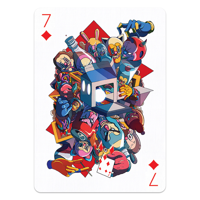 Playing cards design png. Famous designers and