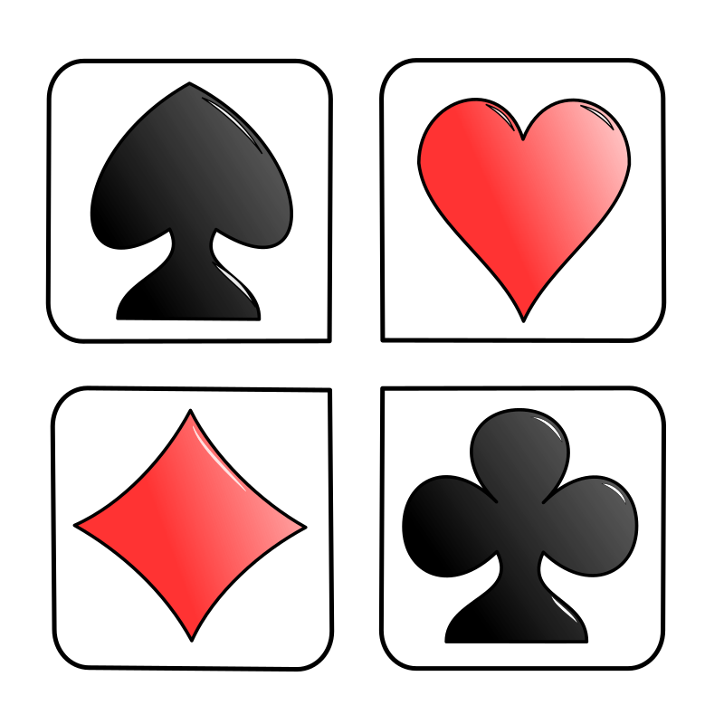 Playing cards symbols png. Images transparent free download