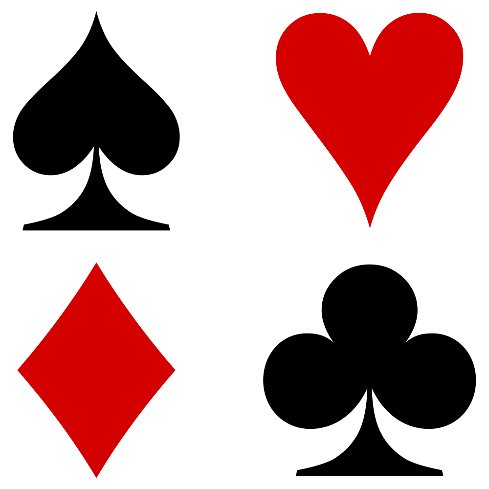 Playing cards symbols png. File french suits svg