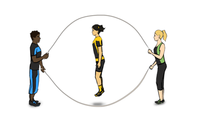 Playing clipart double dutch. Long rope skills nakean