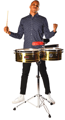 Playing drums png. Latin percussion we are