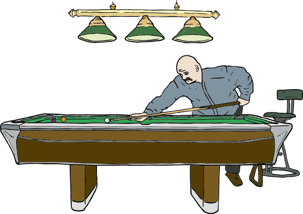 Playing pool png. Table with player clip