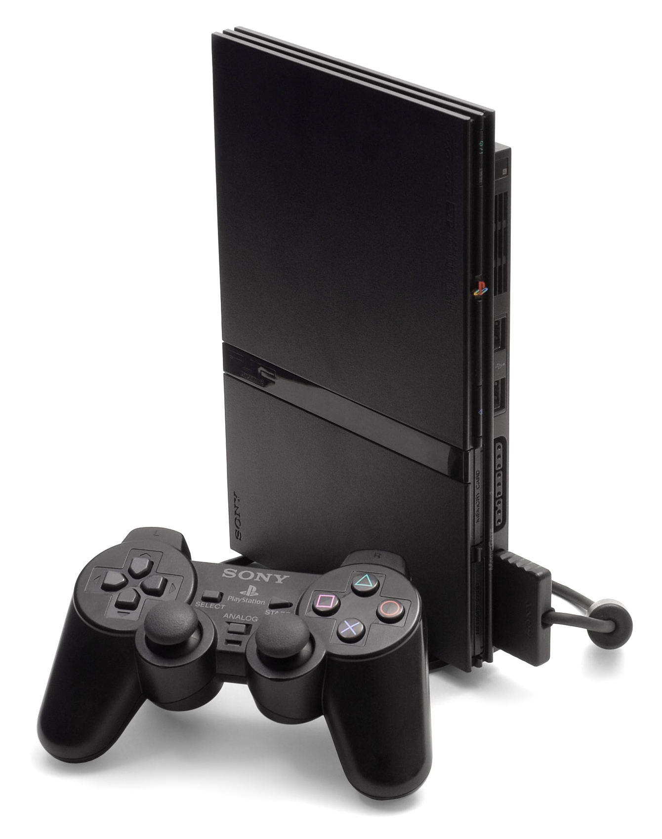 Playstation 2 png. File ps slim console