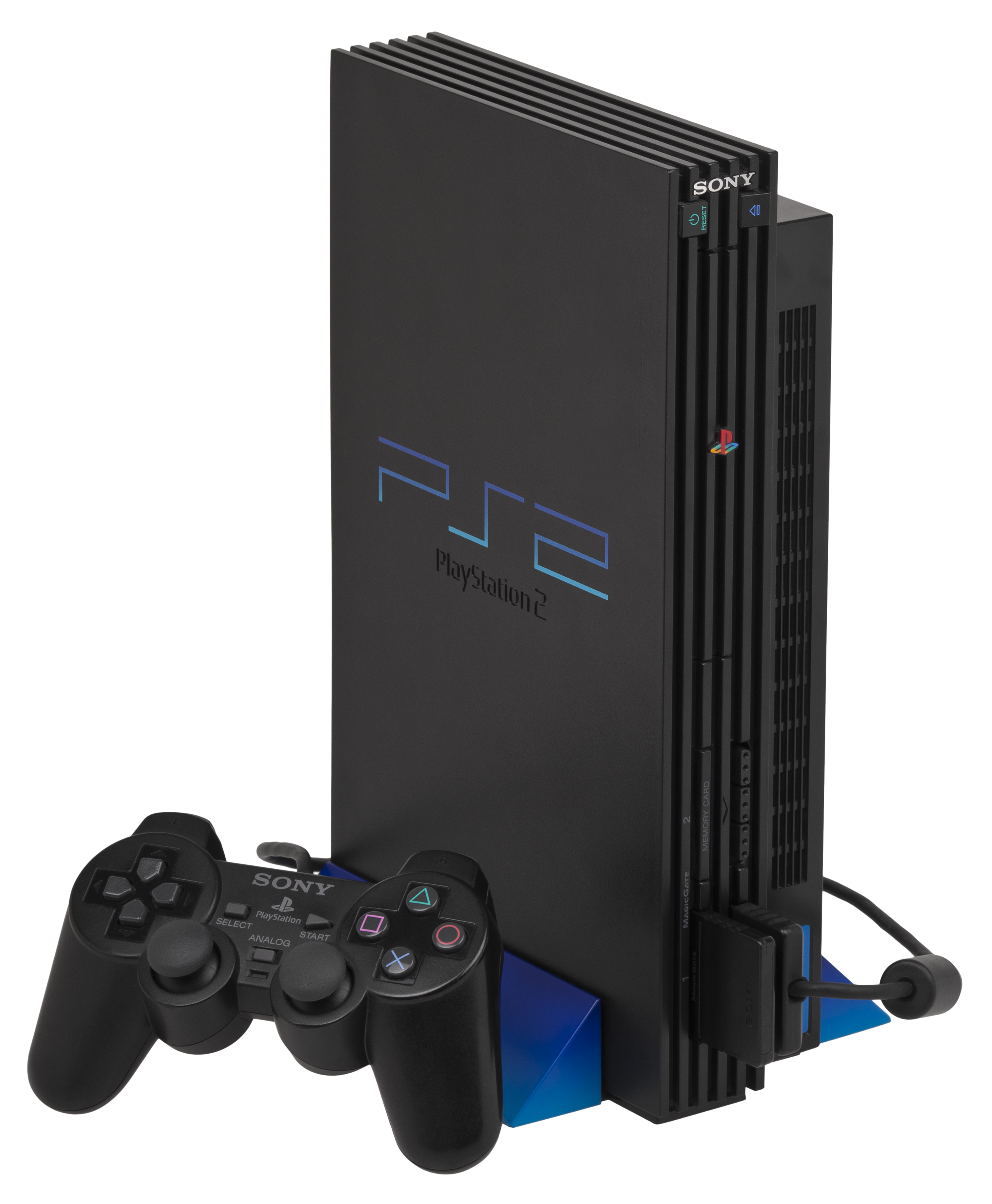 Playstation 2 png. File ps fat console