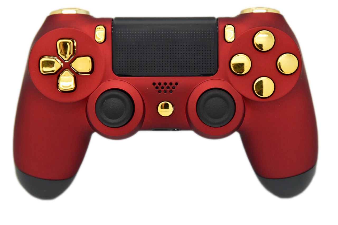 Ps4 controller png. Red gold soft touch