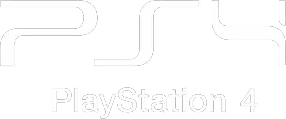 Playstation 4 logo white png. Psd official psds share