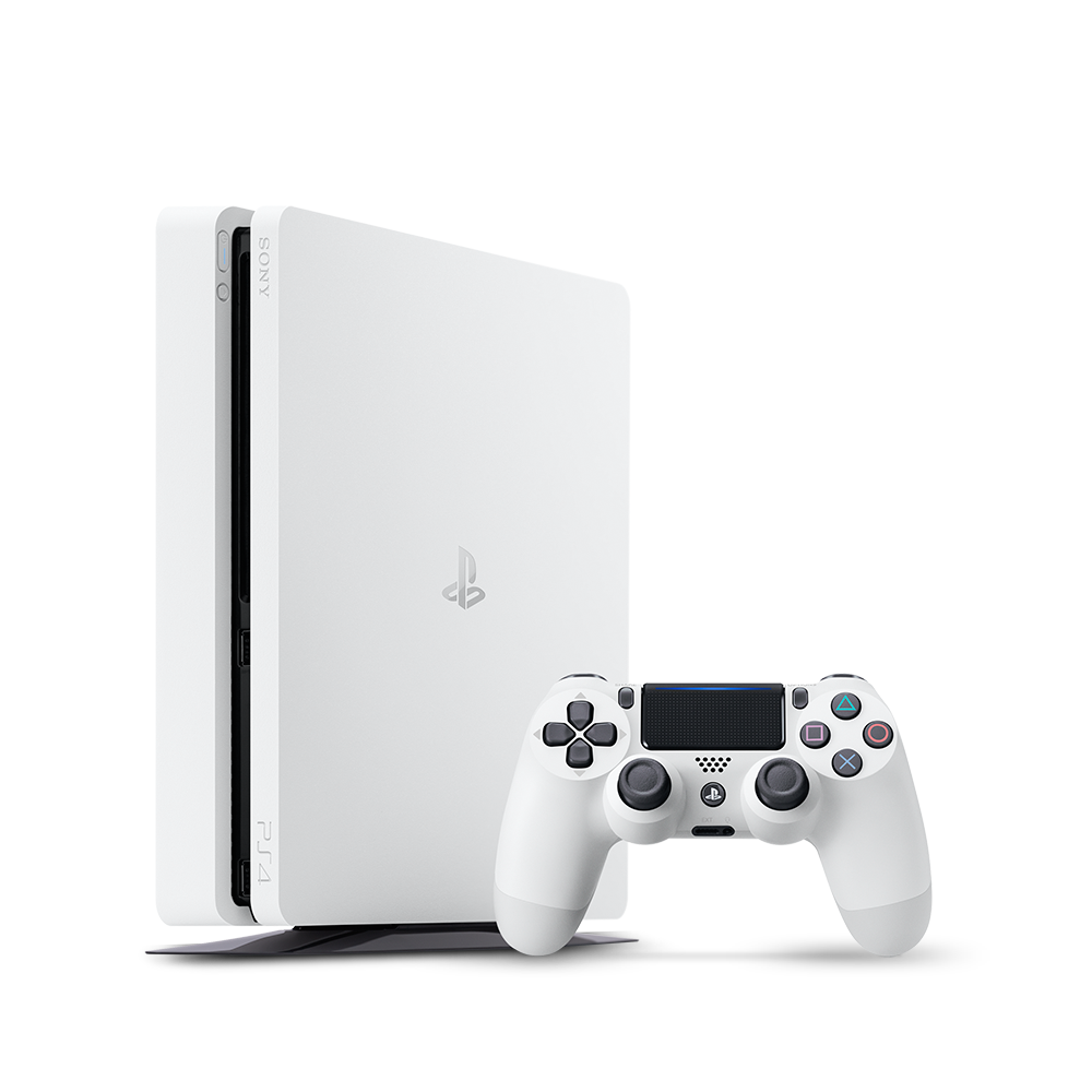 Playstation 4 png. Slim gb console white