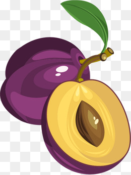 Plum clipart. Fruit png vectors psd