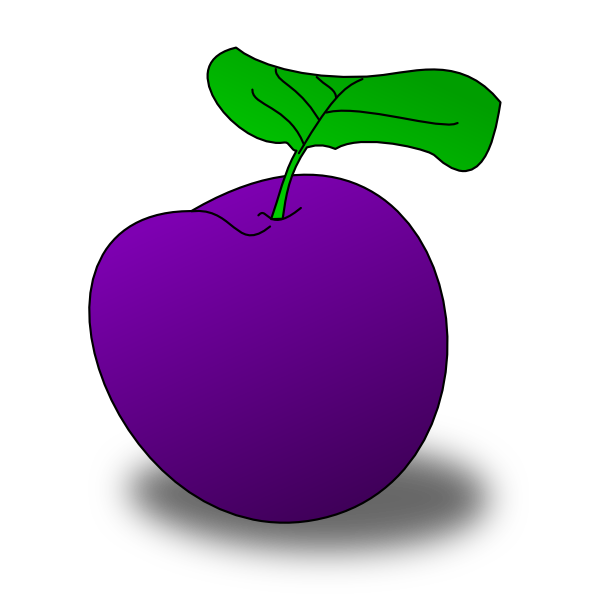 Plum clipart plum fruit.