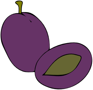 Plum clipart plum fruit. Food clip art at