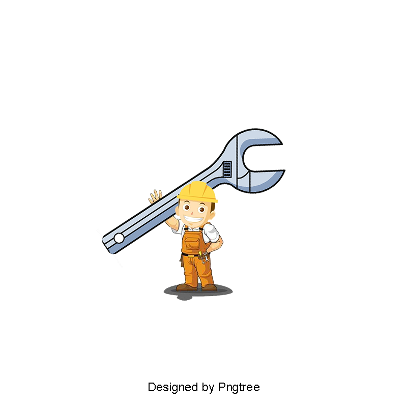 Cartoon carrying tools png. Plumber clipart png free stock
