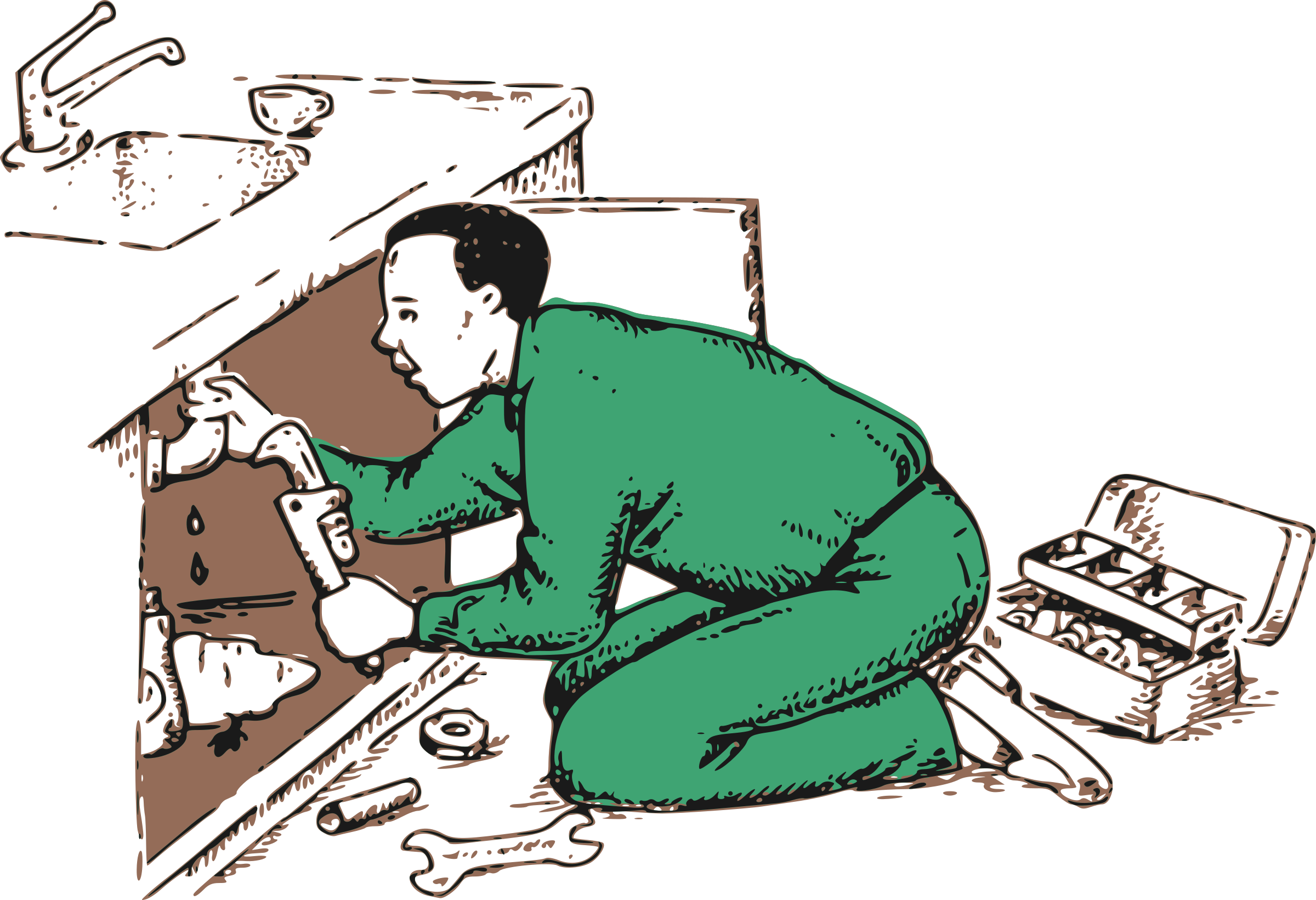 Plumber clipart. Friendly big image png