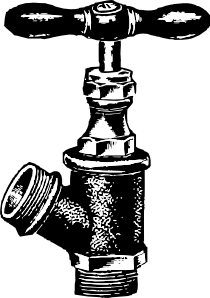 Faucet plumbing clip art. Plumber clipart clipart black and white download