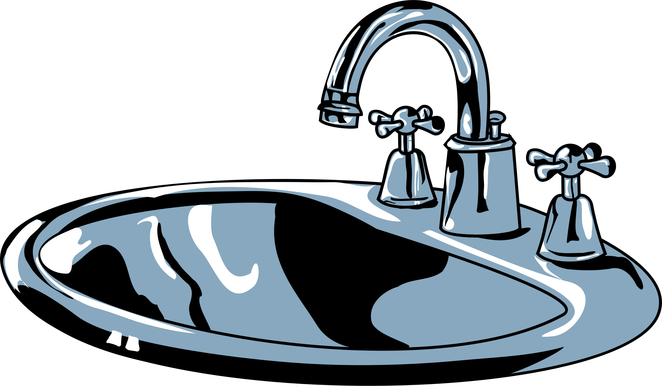 Clipart clipground. Sink vector picture black and white stock