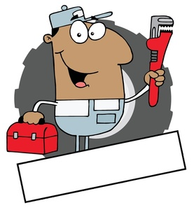 Plumber clipart cartoon. Free image acclaim with