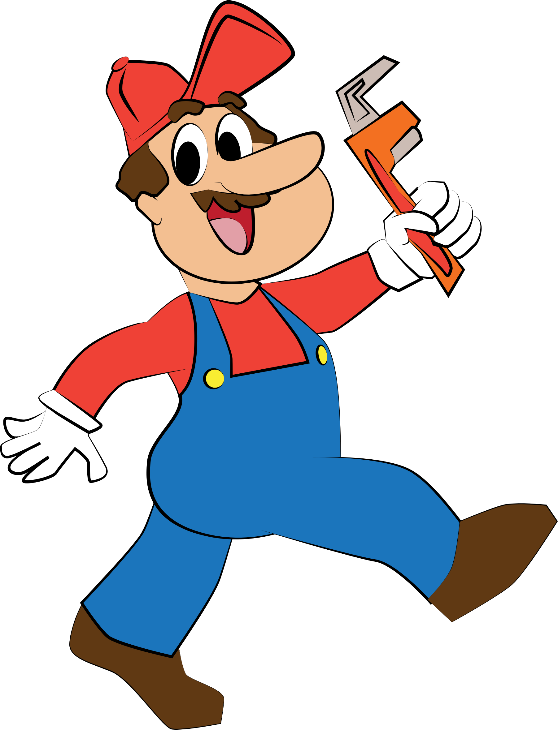 Big image png. Plumber clipart vector royalty free download