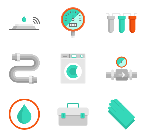 Vector furniture elements. Free plumbing icon download