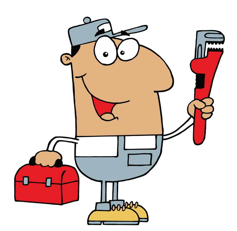 Wearing gloves . Plumber clipart water damage clipart free library