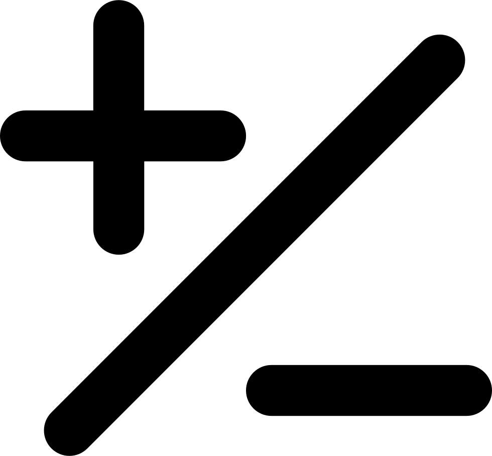 Plus and minus png. Mathematical basic signs of