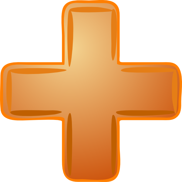 Plus sign vector png. Orange clip art at