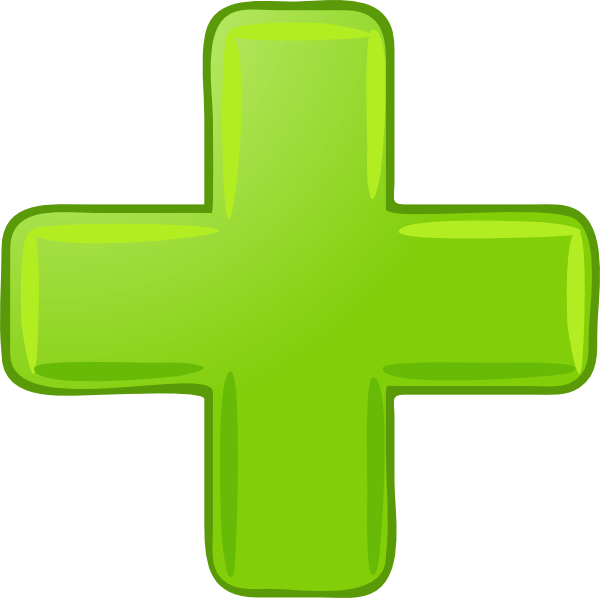 Plus sign vector png. Green clip art at