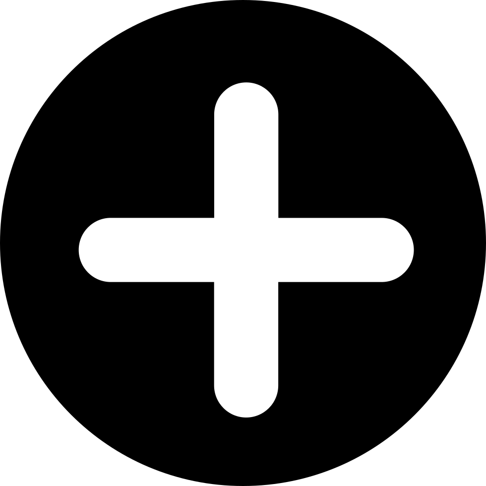 Add Button With Plus Symbol In A Black Circle Svg Png Icon Free