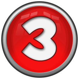 Number 3 icon png. Red orb alphabet iconset