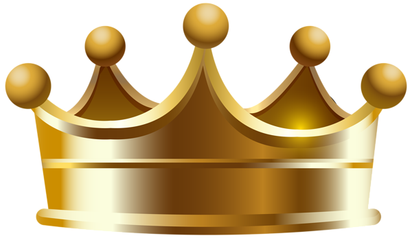 Corona de rey de oro png. Crown transparent clip art