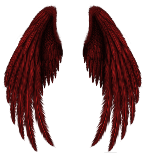 Png angel wings. Transparent red clipart picture
