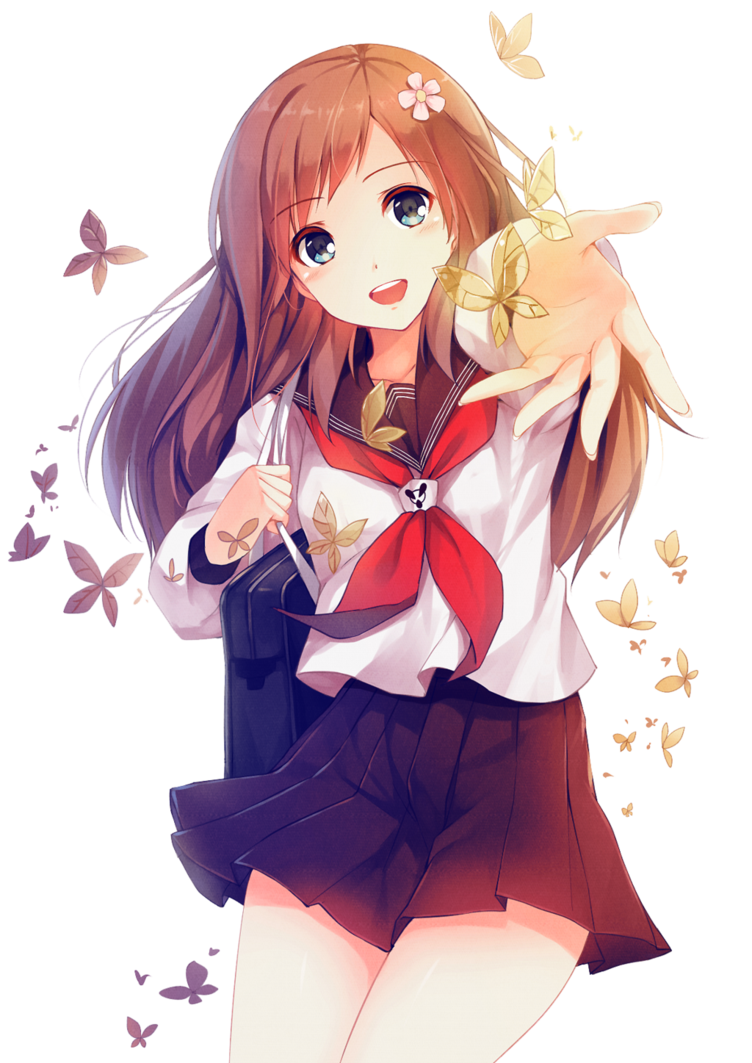 Png anime girl. Transparent pictures free icons