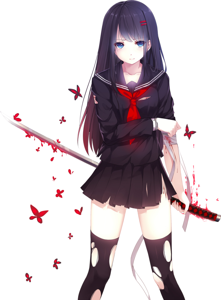 Png anime girl. By bloomsama on deviantart