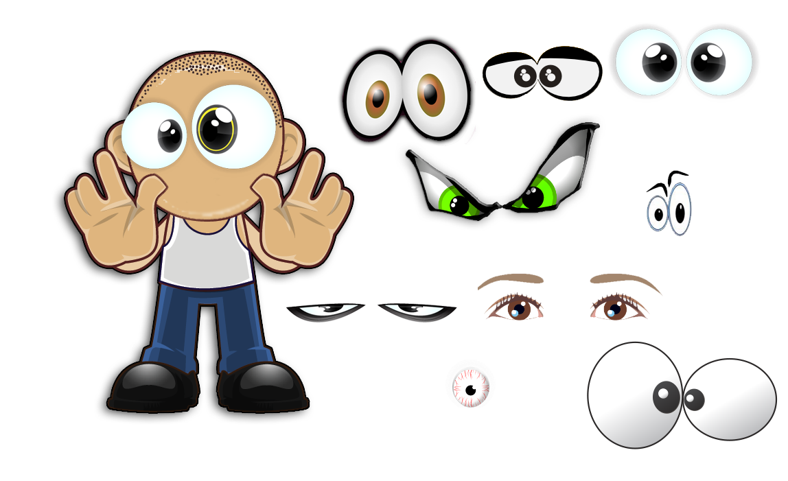 Drawing characatures big eye. Create your own character